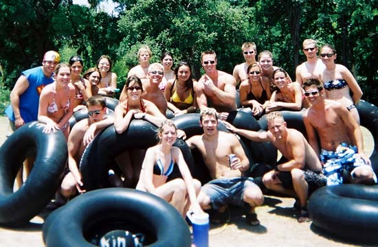 Just a couple of friends tubing
